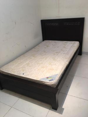 For Sell Single bed with mattress