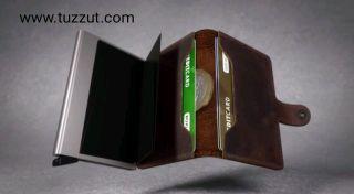 جلد حامل بطاقة RFID المحفظة