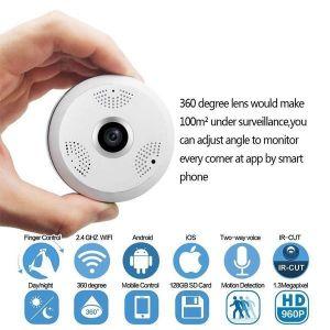 كاميرا بانوراما فيش اي CCTV