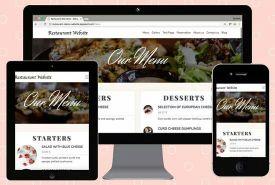 موقع ديناميكي لمطعم او مقهى باحترافية