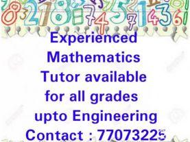 Experienced maths
