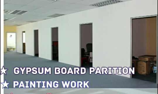 We Are working in Gypsum Board, Paint. E