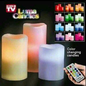 الشموع متعددة الألوان