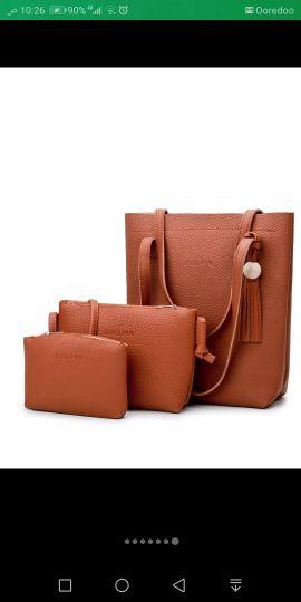 حقيبة نسائية 3 قطع