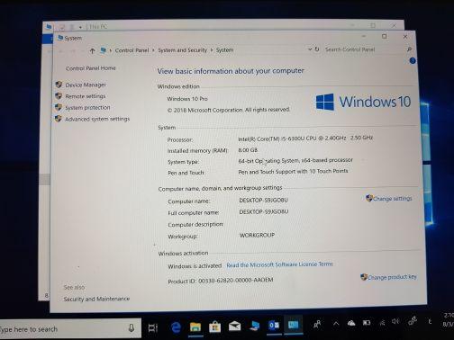 كمبيوتر مايكروسوفت سيرفس بحالة الجديد