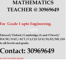 MATHS teacher available @your home