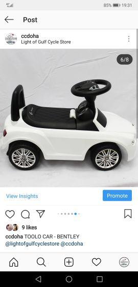 سيارة بنتلي للأطفال جديدة
