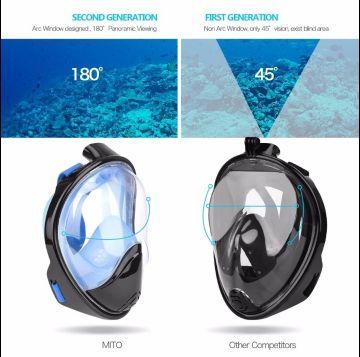 للبيع قناع التنفس تحت الماء
