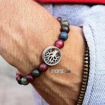 Bracelets made of stone .