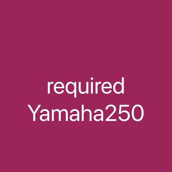 Required Yamaha 250 hp