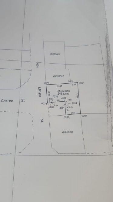للبيع ارض 243 متر المنصوره فريج بن درهم