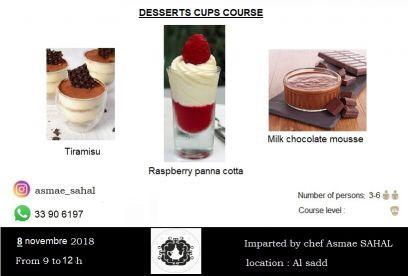 Dessert cups course
