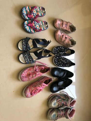 Girl used shoes