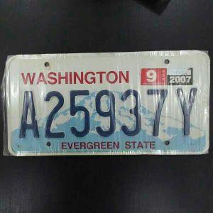 لوحة سيارة امريكية/واشنطن