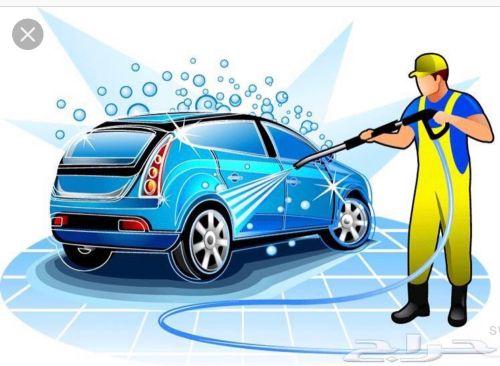 للبيع سجل مغسله وتلميع سيارات