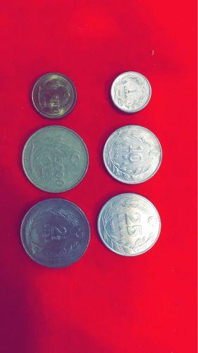 عملات معدنيه للجمهوريه التركيه