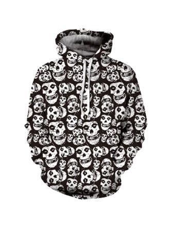 Men's high quality skull hoodie