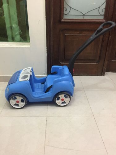 Blue baby walker car