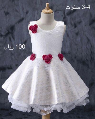 فستان بناتي 3-4 سنوات