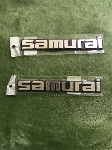 Suzuki Samurai new badges