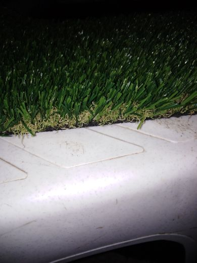 العشب الصناعي والطبيعي