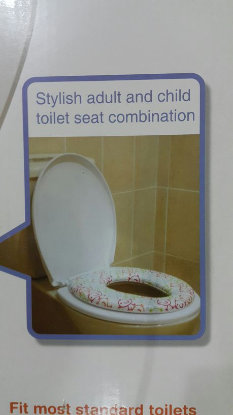 adult and child toilet seat combination