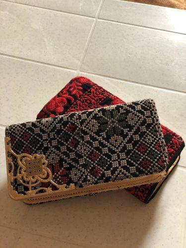 محفظه نسائية تطريز يدوي فلسطيني