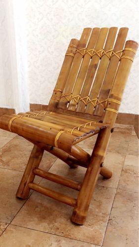 كرسي بامبو صناعة يدويه