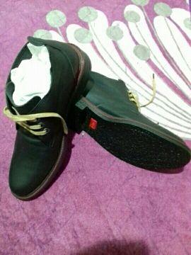 حذاء جلد طبيعي مقاس 41