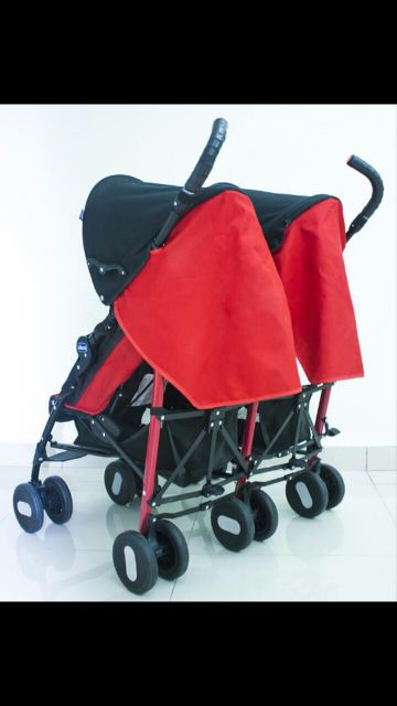 chicco red twinstroller