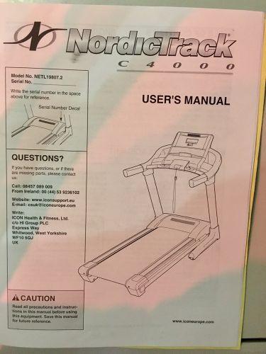 Treadmill Nordictrack C4000 USA