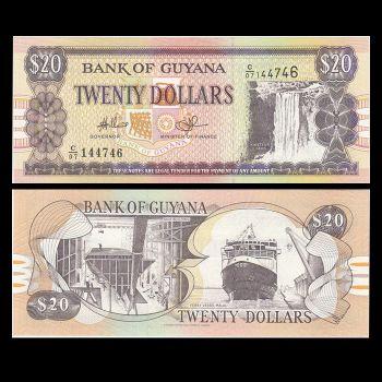 غوايانا ٢٠ دولار