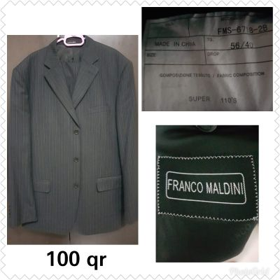 Franco Maldini suit size 56