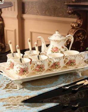 طقم كاسات شاي فخم