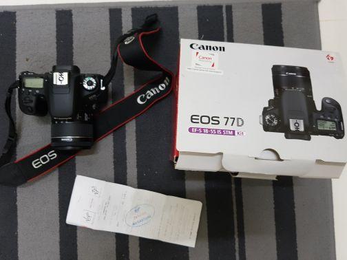 كاميرا كانون D77 تحت الضمان كل ملحقاتها