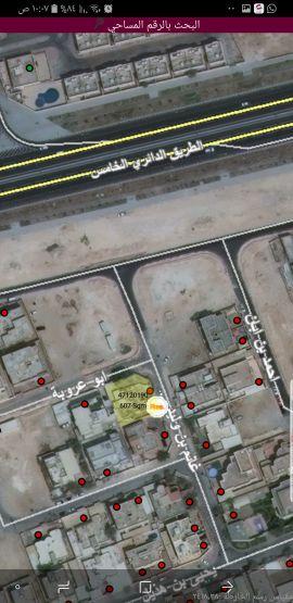 للبيع أرض روضه المطار ٦٠٧م