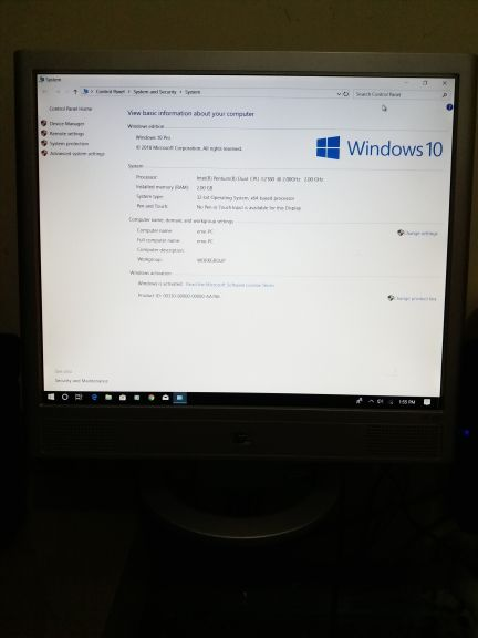 computer for sale only pc