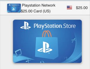 PlayStation store (US) card - $25