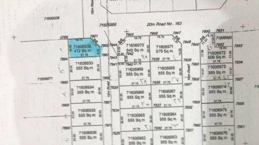 للبيع أرض ٤١٢متر