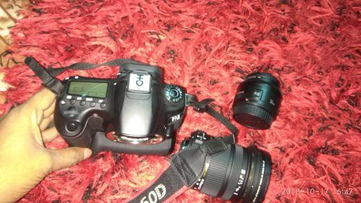 Canon 60d Canon prime Lance 50mm Sigma 1
