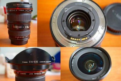 Canon 17-40 F4  Usm+ hood and covers