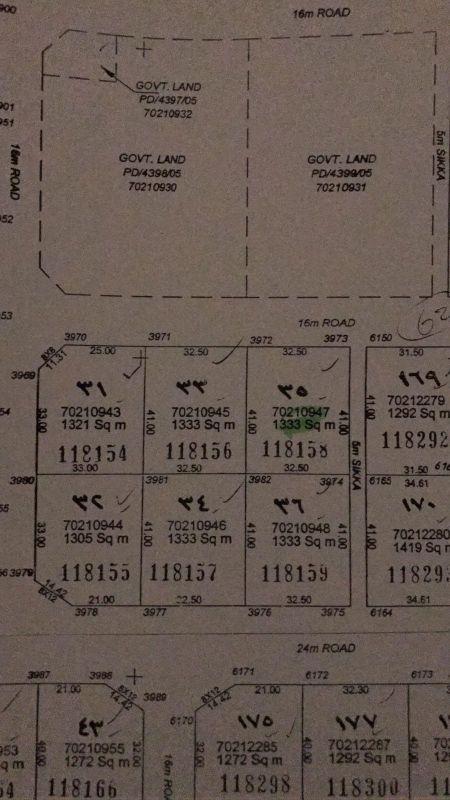 للبيع أرض في روضة الحمامة مساحة ١٣٣٣م