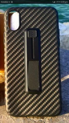 Carbon fibre Ring iPhone X case