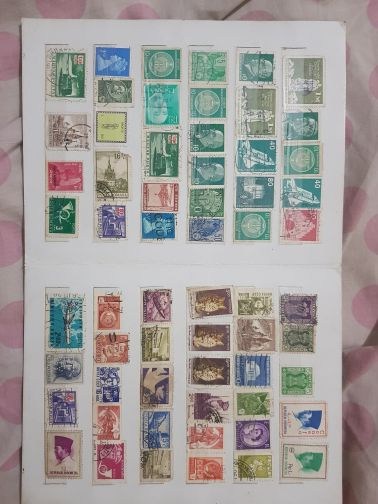 330 old foreign stamps collections