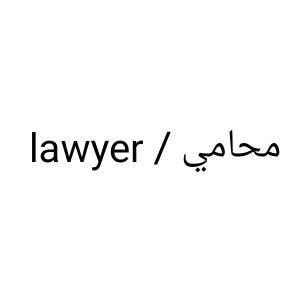 محامي و مستشار قانوني /