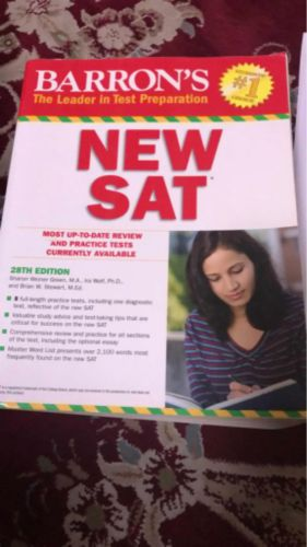 New SAT book Barron's