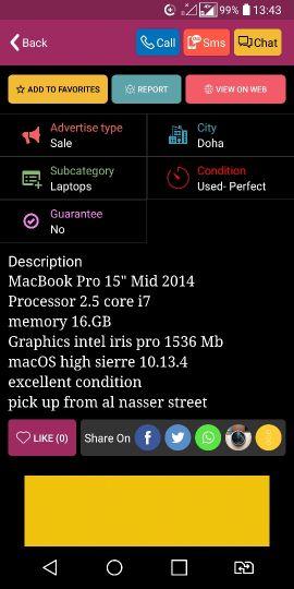 """Mac Pro 15""""-16gb"""