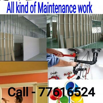 All kinds of patitiong and plumbing work