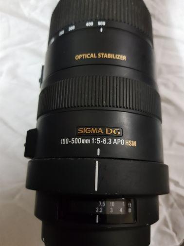 زوم سيجما 150mmx500mm
