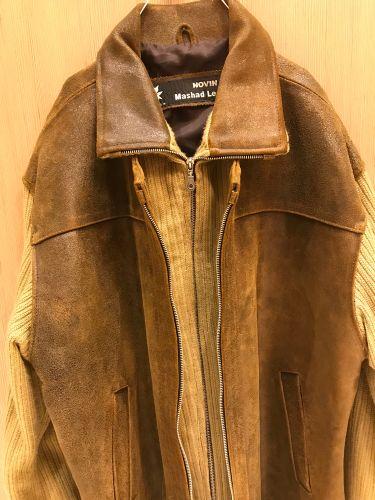 جاكيت جلد حصان أصلي horse leather